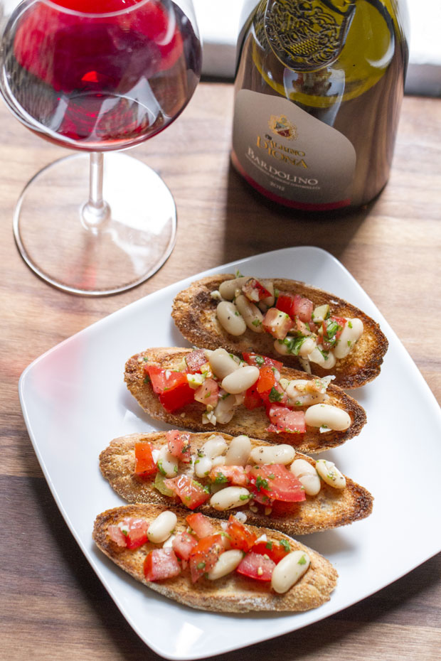 Bruschetta and Wine