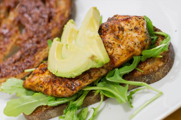 Honey-Chipotle Barbecue Chicken Sandwich Recipe — Dishmaps