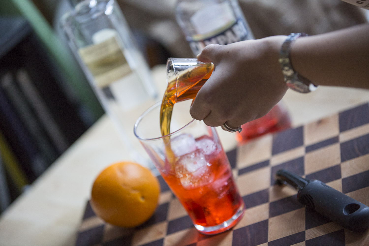 Orange Fired Negroni