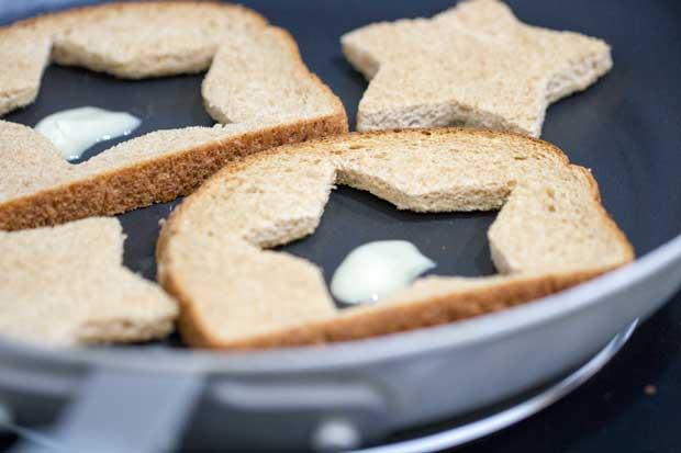 Toast on Skillet