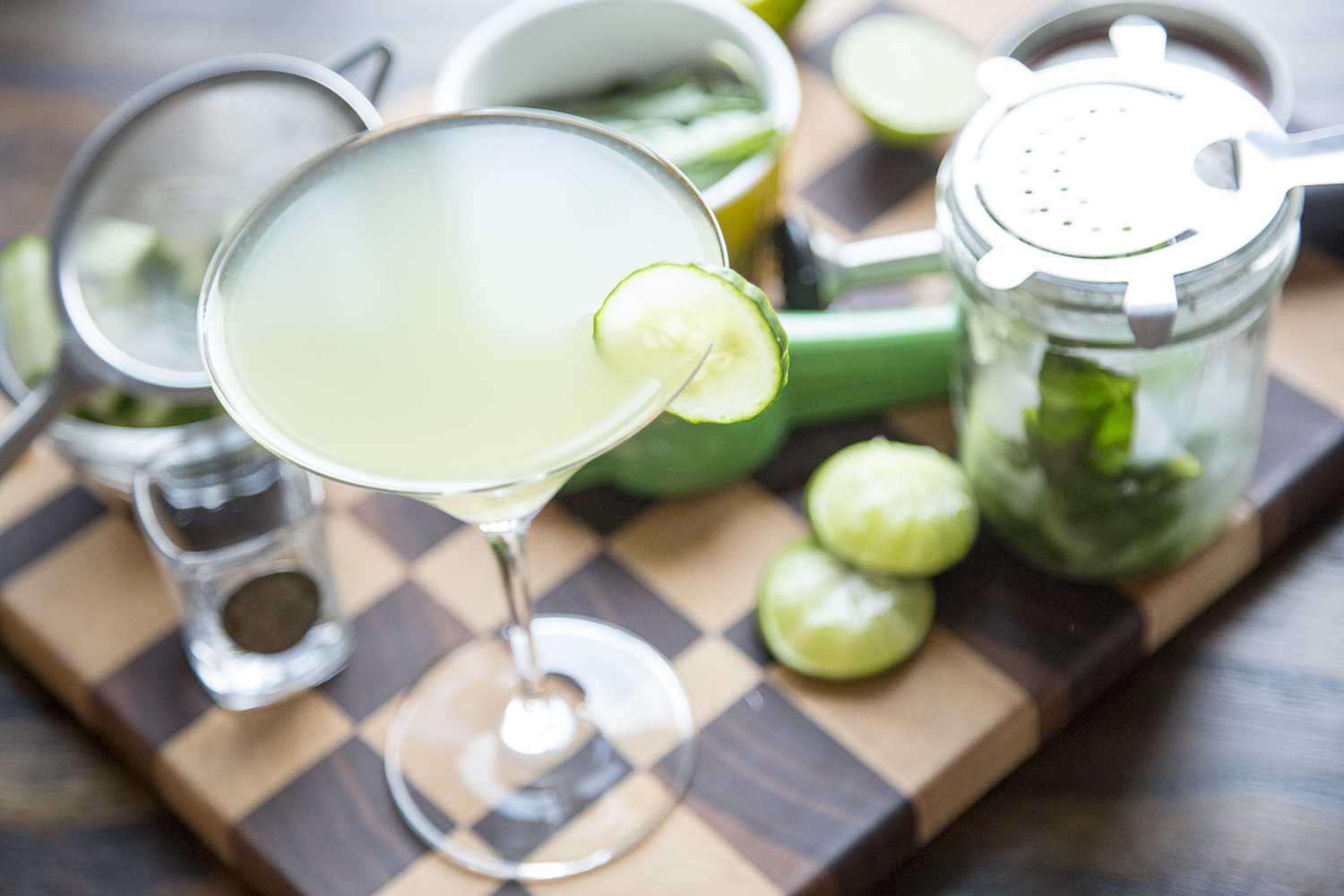 Muddled Cucumber and Lime