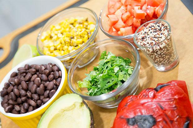 Quinoa Fajita Bowl Ingredients