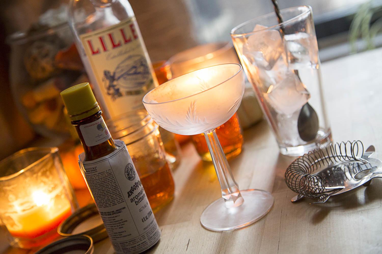 Chilled martini glass
